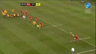 Welsh player receives pass