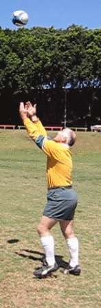 Catching the high ball - reaching up for the ball