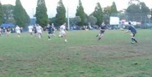 Photo of a rugby winger with room to move