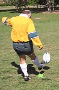 Player taking a conversion